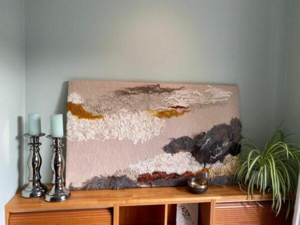 schilderij van wol Natalie Wool